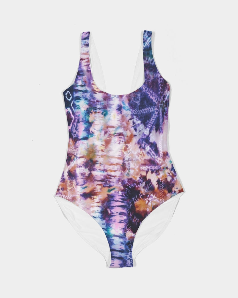 Purple Tie Dye Women's One-Piece Swimsuit
