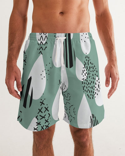 Tiffany Green Favor Men's Swim Trunk - Denim By Fred