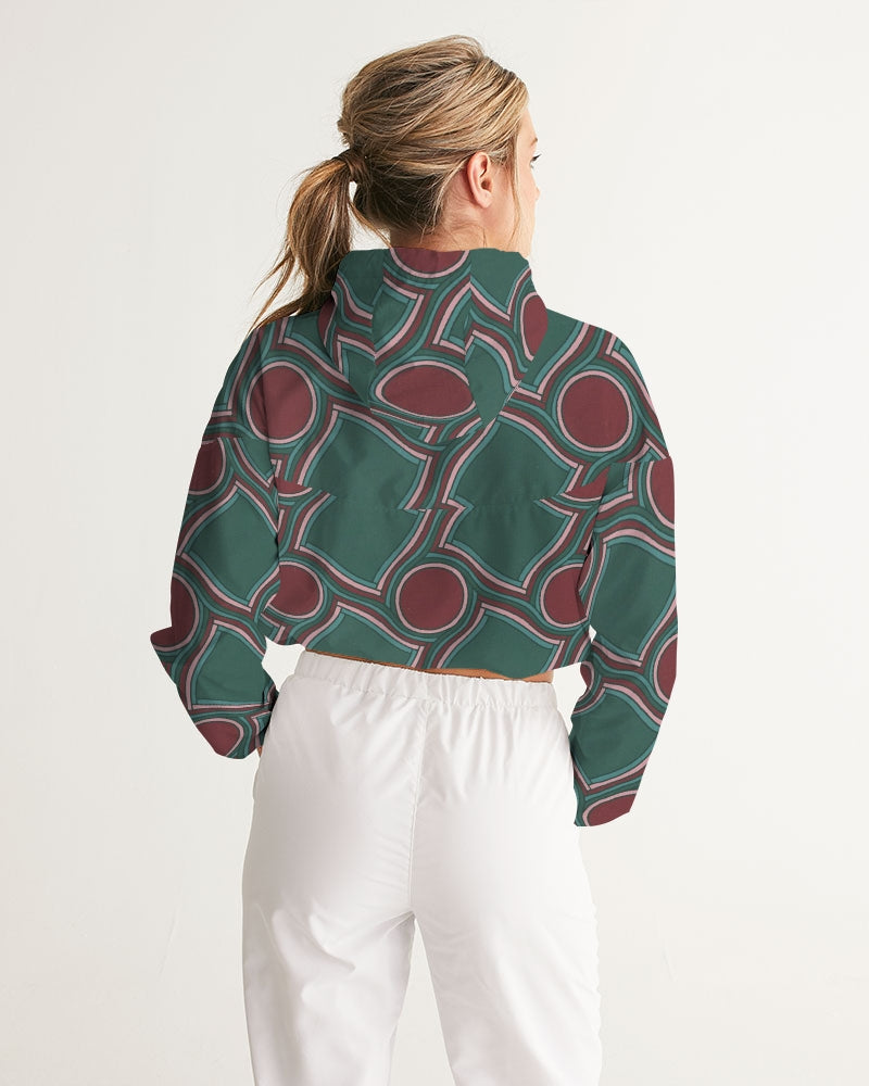 Shapes Women's Cropped Windbreaker