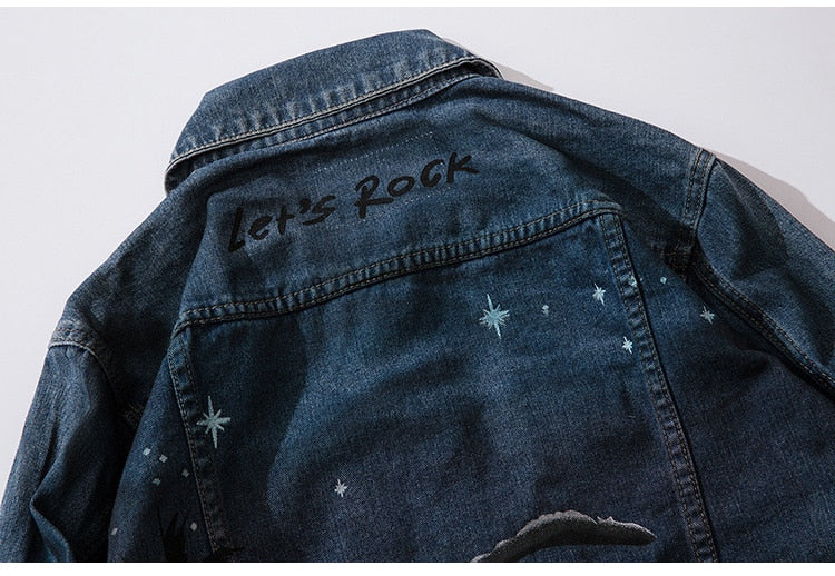Moonlight Distressed Denim Jacket