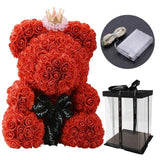 2020 DropShipping 40cm with Heart Big Red Teddy Bear Rose Flower Artificial Decoration Christmas Gifts for Women Valentines Gift - YouCanGetGifts Store