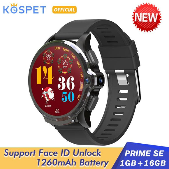 2020 KOSPET Prime SE 1GB 16GB Android Smart Watch For Men 1260mAh 1.6 - YouCanGetGifts Store