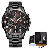 2020 LIGE Fashion Mens Watches Stainless Steel Top Brand Luxury Sport Chronograph Quartz Watch Men Black Watch Relogio Masculino - YouCanGetGifts Store