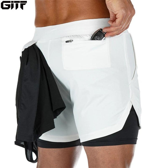 2020 Summer Running Shorts Men 2 in 1 Sports Jogging Fitness Shorts Training Quick Dry Mens Gym Men Shorts Sport gym Short Pants - YouCanGetGifts Store