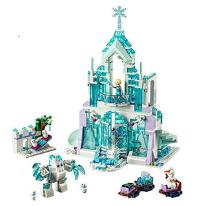 731pcs Snow World Series The Elsa`s Magical Ice Castle Set girls Building Blocks Bricks Toys Girl friend compatible with 41148 - YouCanGetGifts Store