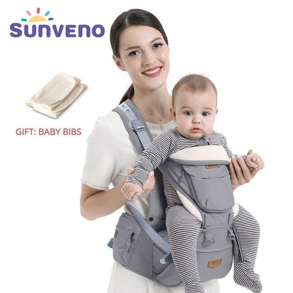 SUNVENO Ergonomic Baby Carrier Infant Baby Hipseat Waist Carrier Front Facing Ergonomic Kangaroo Sling for Baby Travel 0-36M - YouCanGetGifts Store