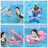 Solid Non-inflatable Baby Swimming Ring floating Float Lying Swimming Pool Toys Bathtub For accessories Swim Trainer Sunshade - YouCanGetGifts Store