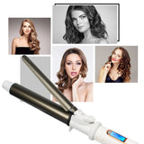 USHOW Professional Ceramic Hair Curler LED Digital Temperature Display Curling Iron Roller Curls Wand Waver Fashion Styling Tool - YouCanGetGifts Store