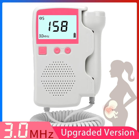 Upgraded 3.0MHz Doppler Fetal Heart rate Monitor Home Pregnancy Baby Fetal Sound Heart Rate Detector LCD Display No Radiation - YouCanGetGifts Store