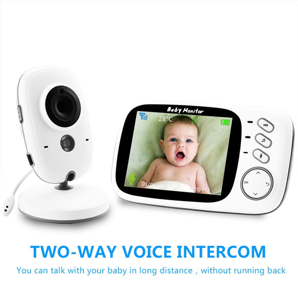 VB603 Wireless Video Color Baby Monitor with 3.2Inches LCD 2 Way Audio Talk Night Vision Surveillance Security Camera Babysitter - YouCanGetGifts Store