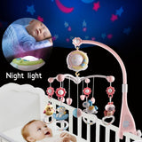 Baby Rattles Crib Mobiles Toy Holder Rotating Mobile Bed Bell Musical Box Projection 0-12 Months Newborn Infant Baby Boy Toys - YouCanGetGifts Store