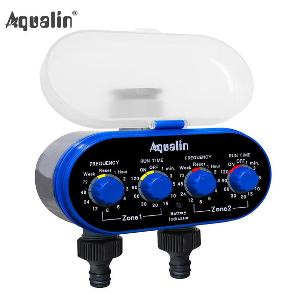 Ball Valve Electronic Automatic Watering Two Outlet Four Dials  Water Timer Garden Irrigation Controller for Garden, Yard #21032 - YouCanGetGifts Store