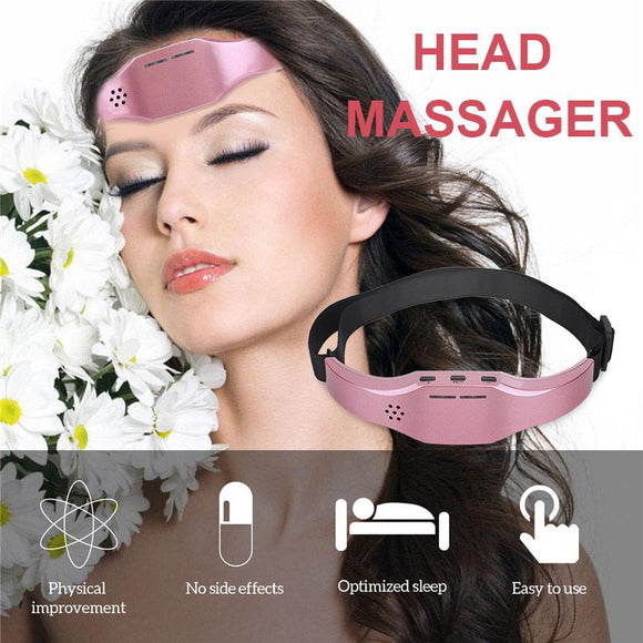 Brain Relaxation Low Frequency Pulse  Improve Sleep Health Stress Relief Brain Massager Stimulator EMS Head Massager Forehead - YouCanGetGifts Store