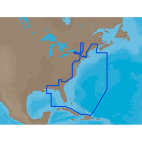C-MAP MAX NA-M022 - U.S. East Coast and The Bahamas - C-Card - YouCanGetGifts Store
