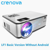 CRENOVA 2019 Newest Android Projector 1280*720P Support 4K Videos Via HDMI Home Cinema Movie Video Projector - YouCanGetGifts Store