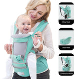 Ergonomic Baby Carrier Infant Kid Baby Hipseat Sling Front Facing Kangaroo Baby Wrap Carrier for Baby Travel 0-36 Months - YouCanGetGifts Store