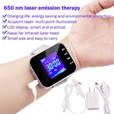 Household 650nm Laser Physiotherapy Wrist Diode LLLT for Diabetes Hypertension Treatment Diabetic Watch Laser Sinusitis Therapy - YouCanGetGifts Store