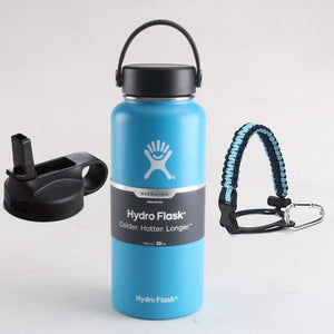 Hydro Flask Water Bottle Stainless Steel Bottle Vacuum Insulated Wide Mouth Hydroflask with Flex Cap And Straw Lid 18/32/40oz - YouCanGetGifts Store