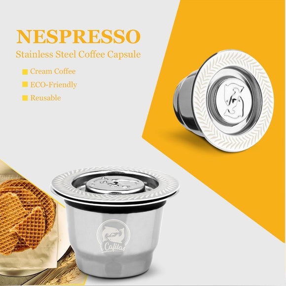 iCafilas Vip Link For Nespresso Reutilisable Refillable Capsule Crema Espresso Reusable New Refillable For Nespresso - YouCanGetGifts Store
