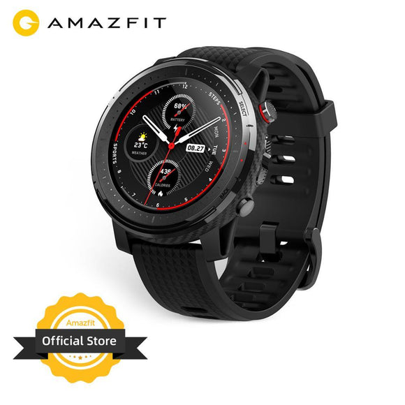 IN Stock Global Version New Amazfit Stratos 3 Smart Watch GPS 5ATM Bluetooth Music Dual Mode 14 Days Smartwatch For Android 2019 - YouCanGetGifts Store