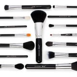 Jessup Pro 15 pcs Make up Brushes Set Black silver Cosmetic Eyeshadow Eyeliner Lip Brush Tool Beauty - YouCanGetGifts Store