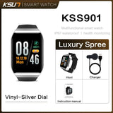 KSUN KSS901 Smart Bracelet Band With Heart rate Monitor ECG Blood Pressure IP68 Fitness Tracker Wrisatband Smart Watch - YouCanGetGifts Store
