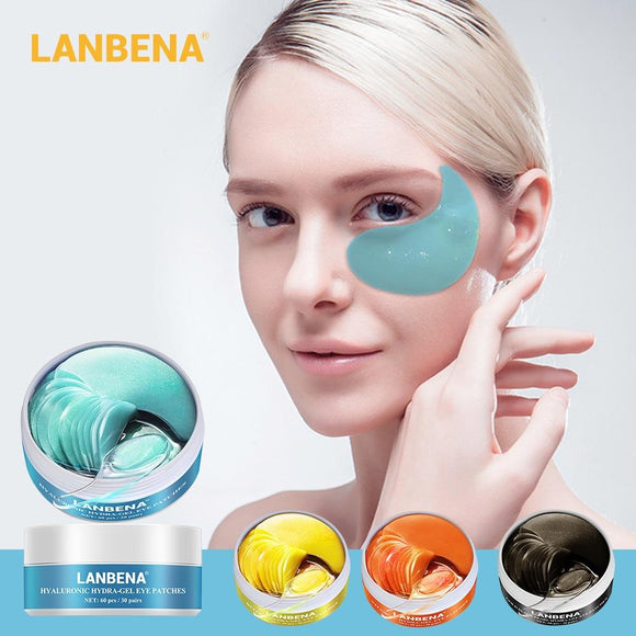 LANBENA Eye Mask Gel Retinol Gold Collagen Eye Patch Reduce Dark Circles Puffy Eyes Fine Lines Anti Aging Moisturizing Eyes Care - YouCanGetGifts Store