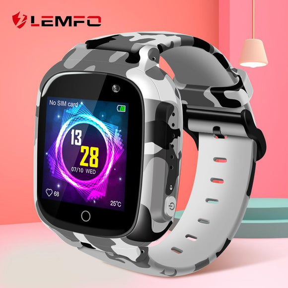 LEMFO LEC2 Smart Watch Kids GPS 600Mah Battery Baby Smartwatch IP67 Waterproof SOS For Children Support Take Video - YouCanGetGifts Store