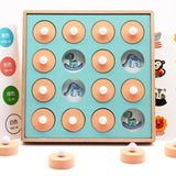 Montessori Memory Match Chess Game 3D Puzzles Wooden Early Educational Family Party Casual Interaction Game Toy For Children Kid - YouCanGetGifts Store