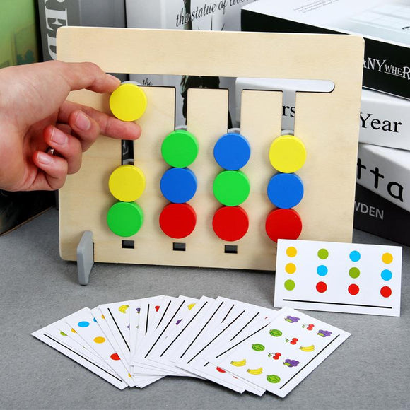 Montessori Toy Colors and Fruits Double Sided Matching Game Logical Reasoning Training Kids Educational Toys Children Wooden Toy - YouCanGetGifts Store