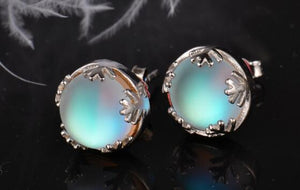 Moonlight Ladies Fashion Aurora Borealis Earrings s925 Silver Stud Elegant Jewelry Birthdays Romatic Gift for Women - YouCanGetGifts Store