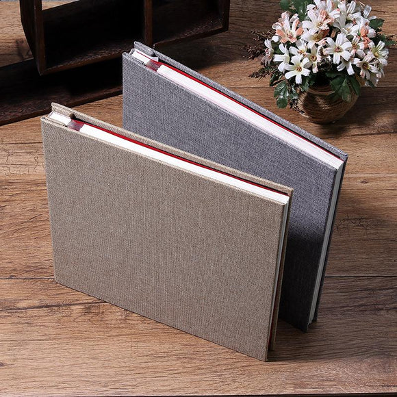 New Linen 16inch DIY Photo Album Lovers Birthday Gift Wedding Photos Baby Photo Ablum Scrapbook Paper Crafts  Albums Sticky - YouCanGetGifts Store