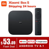 Original Global Xiaomi Mi TV Box S 4K HDR Android TV 8.1 Ultra HD 2G 8G WIFI Google Cast Netflix Set top Mi Box 4 Media Player - YouCanGetGifts Store
