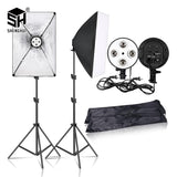 Photography 50x70CM Lighting  Four Lamp Softbox Kit With E27 Base Holder Soft Box Camera Accessories For Photo Studio Vedio - YouCanGetGifts Store