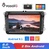 Podofo Android 8.1 2Din Car MP5 Multimedia Video Player GPS Car Radio Auto Radio Stereo 8''Audio For Seat/Skoda/Passat/Golf/Polo - YouCanGetGifts Store