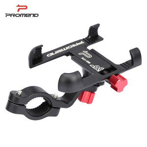 Promend Aluminum Alloy Bike Mobile Phone Holder Adjustable Bicycle Phone Holder Non-slip MTB Phone Stand Cycling Accessories - YouCanGetGifts Store