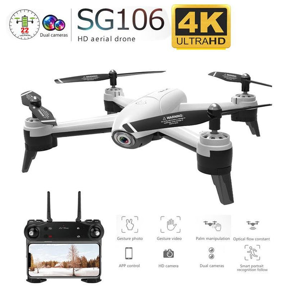 SG106 WiFi FPV RC Drone 4K Camera Optical Flow 1080P HD Dual Camera Aerial Video RC Quadcopter Aircraft Quadrocopter Toys Kid - YouCanGetGifts Store
