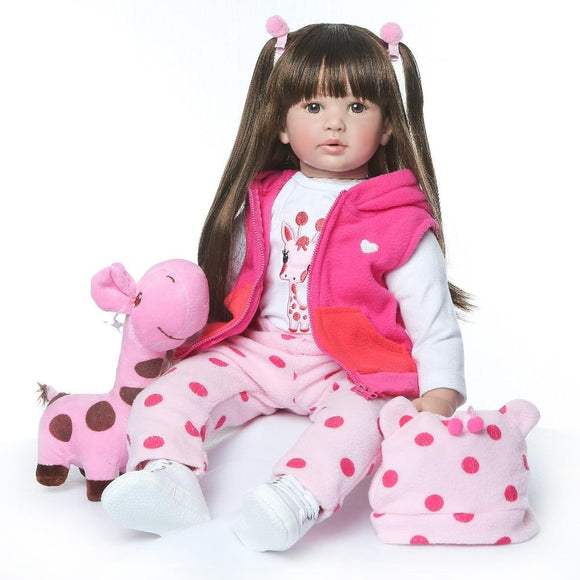 shipping from Russia 60CM high quality reborn toddler princess girl doll adorable Lifelike Baby Bonecas bebe doll reborn menina - YouCanGetGifts Store