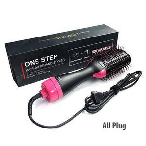 Tangle Hairbrush Detangling Comb for Hair One Step Hair Blower and Volumizer Brush 3 In 1 Dryer Straightener Curler Styling Comb - YouCanGetGifts Store