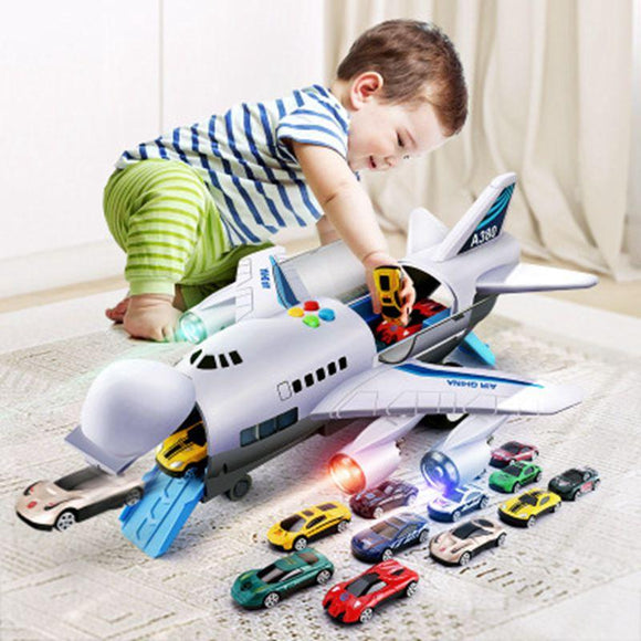 Toy Aircraft Music Story Simulation Track Inertia Children'S Toy Aircraft Large Size Passenger Plane Kids Airliner Toy Car - YouCanGetGifts Store