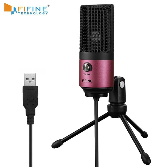 USB MIC Fifine Desktop Condenser Microphone for YouTube Videos Live Broadcast Online Meeting Skype suit for Windows MAC PC k669 - YouCanGetGifts Store