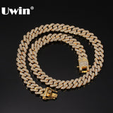 UWIN Micro Paved 12mm S-Link Miami Cuban Necklaces Hiphop Mens Iced Rhinestones Fashion Jewelry Drop Shipping - YouCanGetGifts Store