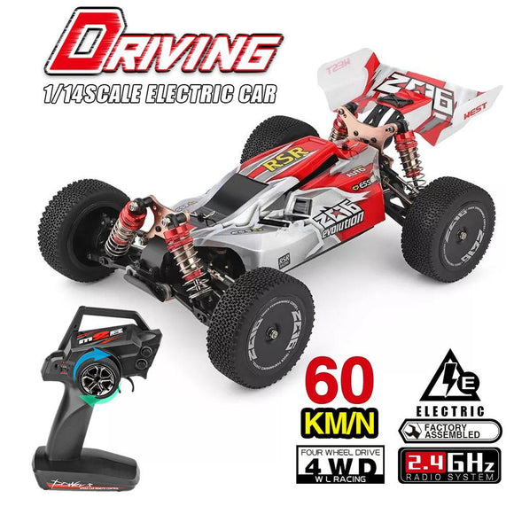 WLtoys 1/14 144001 RTR 2.4GHz RC Car Scale Drift Racing Car 4WD Metal Chassis Shaft Ball Bearing Gear Hydraulic Shock Absober - YouCanGetGifts Store