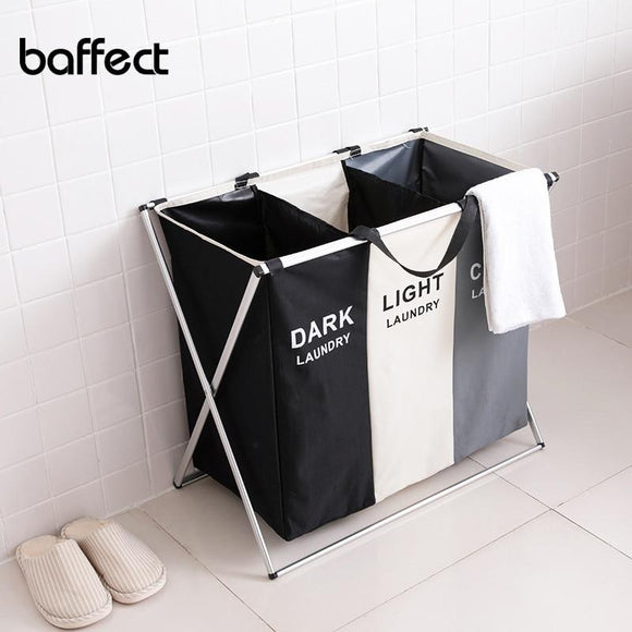 X-shape Foldable Dirty Laundry Basket Organizer Collapsible 2/3 Grids Dirty Clothes Storage Waterproof Large Laundry Hamper - YouCanGetGifts Store