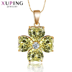 Xuping Flower Design Fashion Style Gold Color Plated Necklace Pendant Women Jewelry for Valentine's Day Gift S68-32897 - YouCanGetGifts Store