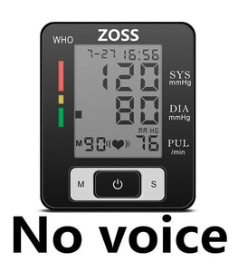 ZOSS  English or Russian Voice Cuff Wrist Sphygmomanometer Blood Presure Meter Monitor Heart Rate Pulse Portable Tonometer BP - YouCanGetGifts Store