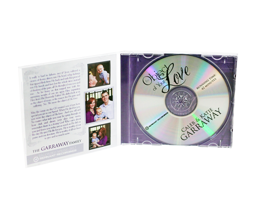 CDs in Jewel Case w/ 4 Panel Insert