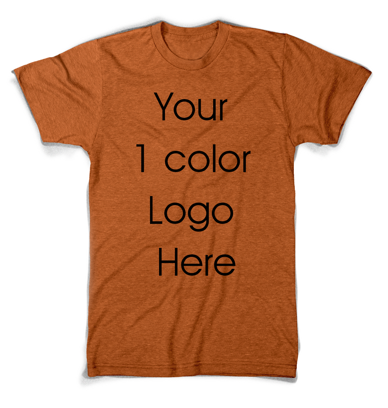 Custom Printed T-Shirts with 1 Color Silkscreen