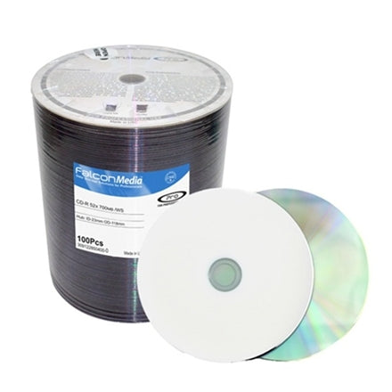 Falcon Media Premium 52x Glossy White Inkjet CD-R