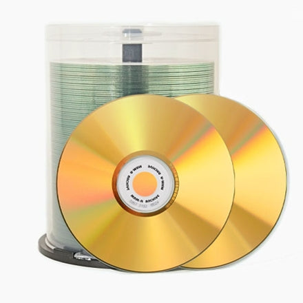 Gold CD-R - 700mb Clear Inkjet 41734